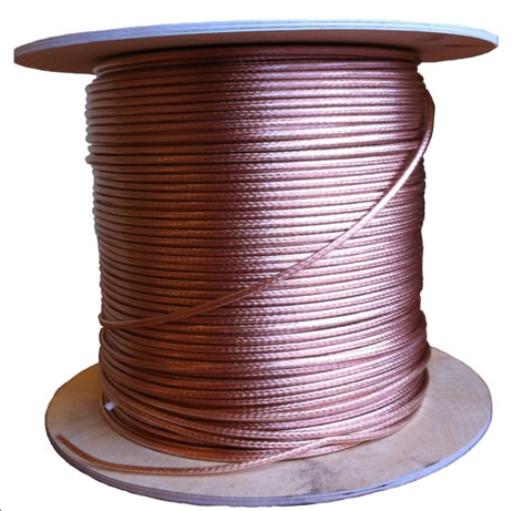 Copper Earth Bonding Cable with clear PVC cover