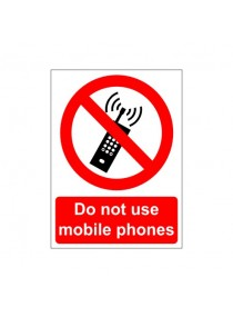210MM X 148MM DO NOT USE MOBILE PHONES