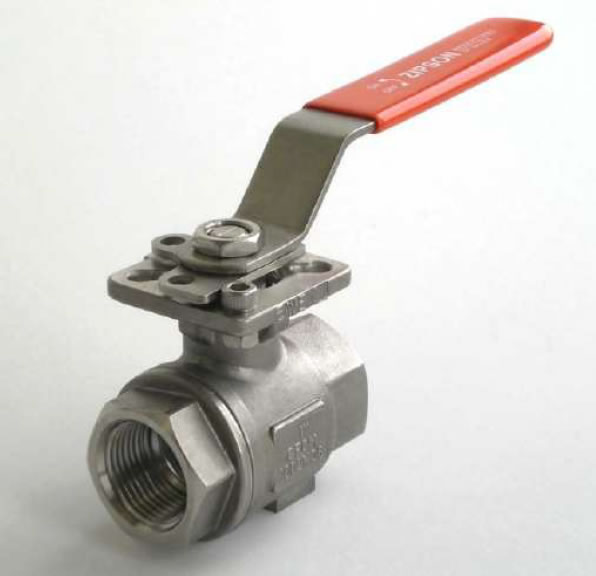 ZIPSON'S 201FD 2-piece ball valve with ISO direct mounting pad