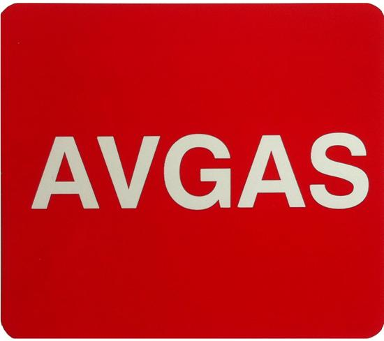 AVGAS Decal 75x65mm
