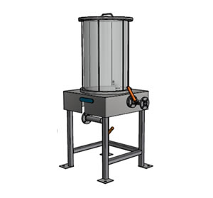 Large Samplers are 80 Litre or 160 Litre Capacity